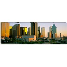 <strong>iCanvasArt</strong> Skyscrapers in a City, Dallas, Texas Canvas Wall Art