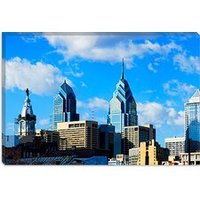 <strong>iCanvasArt</strong> Skyscrapers in a City, Liberty Place, Philadelphia, Pennsylvania Canvas Wall Art
