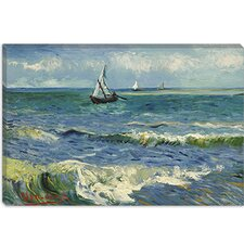 "<strong>iCanvasArt</strong> ""Seascape Near Les Saintes Maries De La Mer"" Canvas Wall Art by Vincent Van Gogh"