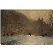 "<strong>iCanvasArt</strong> ""Skating Scene 1865"" Canvas Wall Art by Winslow Homer"