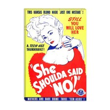 <strong>iCanvasArt</strong> She Shoulda' Said No! Vintage Movie Poster