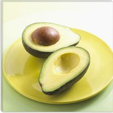 <strong>iCanvasArt</strong> Sliced Avocado on a Plate Photographic Canvas Wall Art
