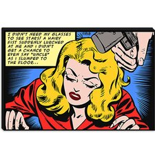<strong>iCanvasArt</strong> Slumped to the Floor (Roy Lichtenstein - Comic Books) Canvas Wall Art