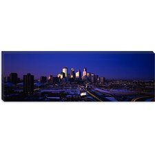 <strong>iCanvasArt</strong> Skyscrapers at Dusk, Minneapolis, Minnesota Canvas Wall Art