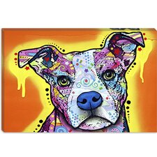 "<strong>iCanvasArt</strong> ""Serious Pit"" Canvas Wall Art by Dean Russo"