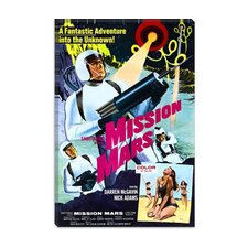 <strong>iCanvasArt</strong> Mission Mars Vintage Movie Poster