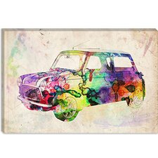 "<strong>iCanvasArt</strong> ""Mini Cooper (Urban) II"" Canvas Wall Art by Michael Thompsett"
