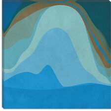 <strong>iCanvasArt</strong> Modern Blue Planet Canvas Wall Art