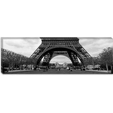 <strong>iCanvasArt</strong> Low Section View of a Tower, Eiffel Tower, Paris, France Canvas Wall Art