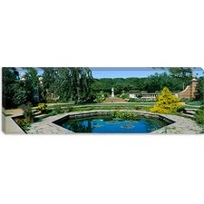 English Walled Garden, Chicago Botanic Garden, Illinois Canvas Wall Art
