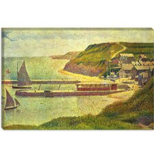 "<strong>iCanvasArt</strong> ""Port-en-Bessin 1888"" Canvas Wall Art by Georges Seurat"