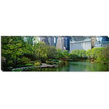 <strong>iCanvasArt</strong> Central Park South, New York City Canvas Wall Art
