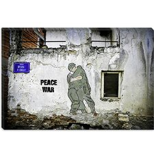 "<strong>iCanvasArt</strong> ""Peace War"" Canvas Wall Art by Luz Graphics"