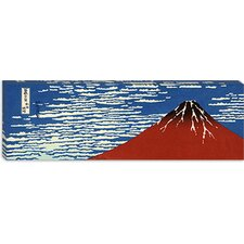 "<strong>iCanvasArt</strong> ""Mount Fuji in Clear Weather (Red Fuji)"" Canvas Wall Art by Katsushika Hokusai (Panoramic)"
