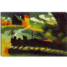 """Murnau View with Railway and Castle"" Canvas Wall Art by Wassily Kandinsky"