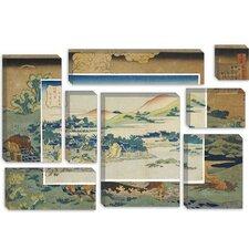 'Mountain Peaks' by Katsushika Hokusai Painting Print on Canvas