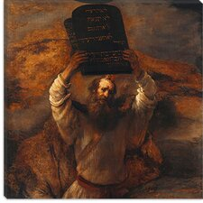 "<strong>iCanvasArt</strong> ""Moses with The Ten Commandments"" Canvas Wall Art by Rembrandt"