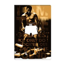 "<strong>iCanvasArt</strong> Muhammad Ali Vs. Sonny Liston, 1965 ""I am The Greatest"" Canvas Wall Art"