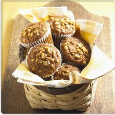 <strong>iCanvasArt</strong> Muffin Basket Photographic Canvas Wall Art