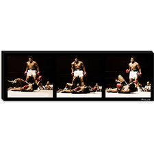 <strong>iCanvasArt</strong> Muhammad Ali Vs. Sonny Liston, 1965 Canvas Wall Art