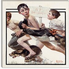 """No Swimming"" Canvas Wall Art by Norman Rockwell"