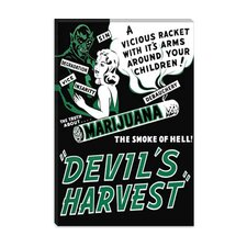 <strong>iCanvasArt</strong> Marijuana, Devils Harvest Vintage Movie Poster
