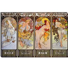 """Les Saisons"" Canvas Wall Art by Alphonse Mucha"