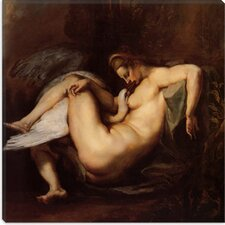 "<strong>iCanvasArt</strong> ""Leda and the Swan"" Canvas Wall Art by Peter Paul Rubens"