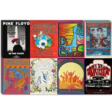 <strong>iCanvasArt</strong> Led Zeppelin, Pink Floyd, Jimi Hendrix, Grateful Dead, the Doors Concert Poster Canvas Wall Art