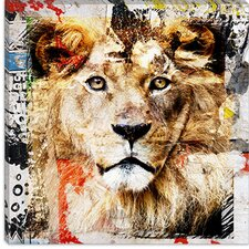 "<strong>iCanvasArt</strong> ""Lion"" Canvas Wall Art by Luz Graphics"