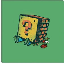 "<strong>iCanvasArt</strong> ""Loose Brick"" Canvas Wall Art by Budi Satria Kwan"