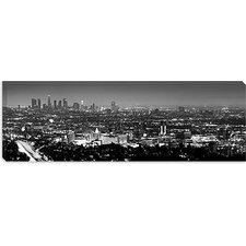 <strong>iCanvasArt</strong> Los Angeles Panoramic Skyline Cityscape Canvas Wall Art