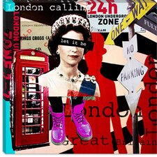 "<strong>iCanvasArt</strong> ""London #51"" Canvas Wall Art by Luz Graphics"