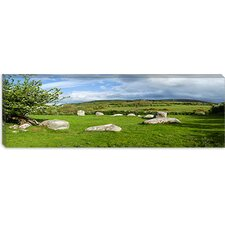 Piper's Stone, Bronze Age Stone Circle (1400-800 BC) of 14 Granite Boulders, County Wicklow, Ireland Canvas Wall Art