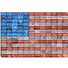 "<strong>iCanvasArt</strong> ""Michigan Flag"" Canvas Wall Art by David Bowman"
