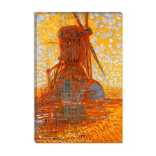 "<strong>iCanvasArt</strong> ""Mill in Sunlight, 1908"" Canvas Wall Art by Piet Mondrian"