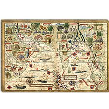 <strong>iCanvasArt</strong> Miller Atlas - Arabia and India (Reinel, Pedro c 1519) Canvas Wall Art