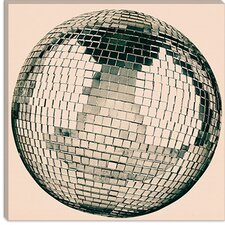 <strong>iCanvasArt</strong> Disco Ball Modern Canvas Wall Art