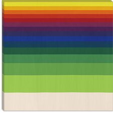 <strong>iCanvasArt</strong> Striped Horizon Modern Canvas Wall Art