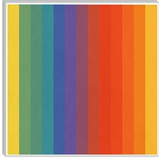 <strong>iCanvasArt</strong> Pride Pattern Modern Canvas Wall Art