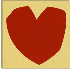 <strong>iCanvasArt</strong> Cut-Out Love Modern Canvas Wall Art