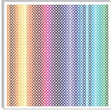 <strong>iCanvasArt</strong> Modern Canvas Wall Art Pride Pattern ll