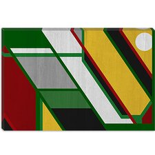 <strong>iCanvasArt</strong> Pattern (After Mondrian) Modern Canvas Wall Art