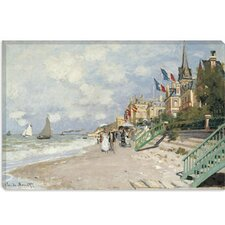 """La Plage a Trouville 1870"" Canvas Wall Art by Claude Monet"