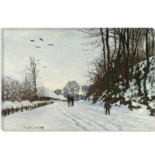 """La Route de la Ferme Saint-Simeon en Hiver 1867"" Canvas Wall Art by Claude Monet"
