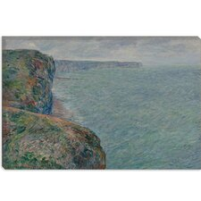 "<strong>iCanvasArt</strong> ""La Mer Vue Des Falaises 1881"" Canvas Wall Art by Claude Monet"