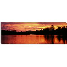 <strong>iCanvasArt</strong> Lake at Sunset, Vermont Canvas Wall Art