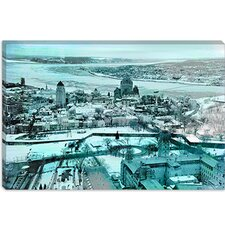<strong>iCanvasArt</strong> Quebec City, Lower Town Canada #3 Canvas Wall Art