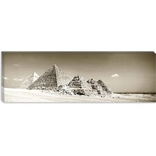 <strong>iCanvasArt</strong> Pyramids of Giza, Egypt Canvas Wall Art