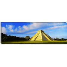 <strong>iCanvasArt</strong> Kukulkan Pyramid, Chichen Itza, Mexico Canvas Wall Art